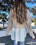 Жіноча кофта-блузка (Батал), фото 3