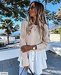 Жіноча кофта-блузка (Батал), фото 4