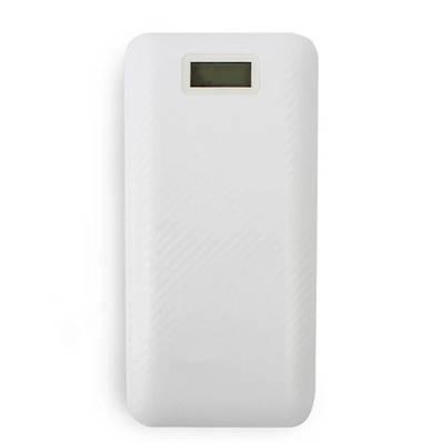 Портативный Powerbank 20000mAh 3 Usb с экраном белый 150870