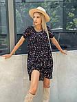 Платье штапель мини с цветочным принтом, фото 2