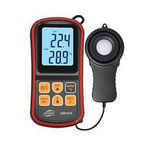 Измеритель уровня освещенности (Люксметр)+термометр, USB, Bluetooth  BENETECH GM1030