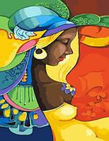 Картина по номерам Красочная Африканка