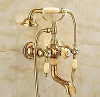 Змішувач для ванни і душа FUTURA NATURE-2 GOLD Золото
