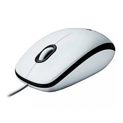 Мишка USB класична Logitech M100 White
