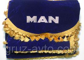 Шторки в кабину MAN МАН лобовое стекло-1 и боковые-2 цвет синий
