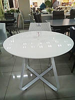 Круглый кофейный стол Т-308 белый от Vetro Mebel, D 90 см