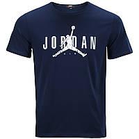Футболка спортивная мужская т синяя NIKE JORDAN Ф-10 DBLU L(Р) 21-904-020