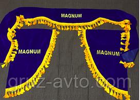 Шторки в кабину RENAULT magnum лобовое стекло-1 и боковые-2 цвет синий