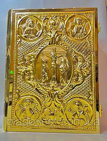 Евангелие в позолоченном окладе 36х27 см Гр. Церковно Словянский
