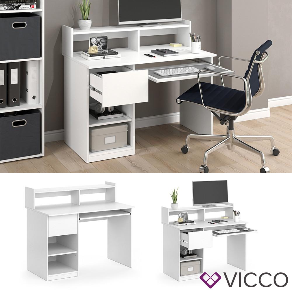 Мини столик для ПК 80x73 Vicco Simon, белый
