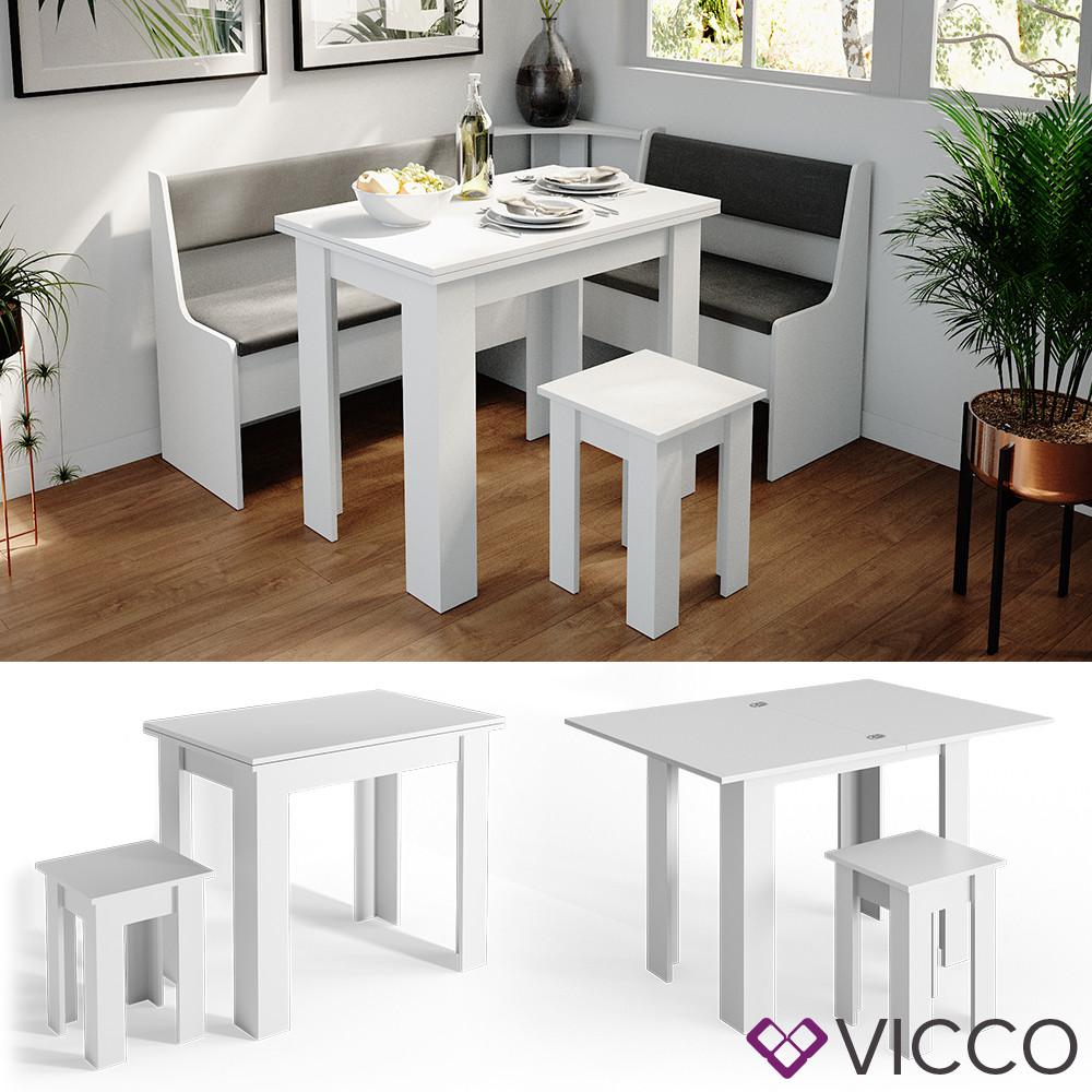 Стіл та стілець для кухні Vicco Roman, білий