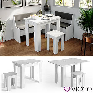 Стол и стул для кухни Vicco Roman, белый