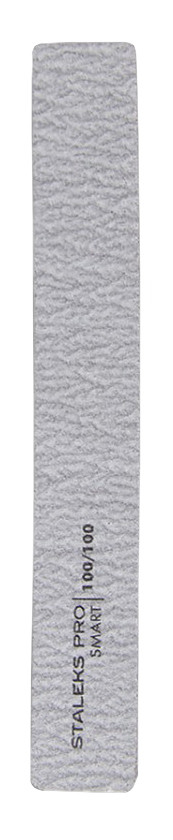 Пилка широка пряма мінеральна для нігтів Staleks SMART 100 / 100грит (5шт) набір