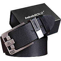 Мужской ремень Bolo с высококачественной износостойкой Эко кожи в подарочной коробке.