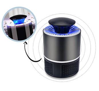 Ловушка для комаров электрическая Mosquito Killer Trap Lamp Black работа от USB