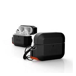 Чохол для Apple AirPods Pro UAG Silicone Case with carabine Black Orange