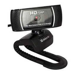 Веб-камера 2.0 Мп з мікрофоном Defender G-lens 2597 HD Black