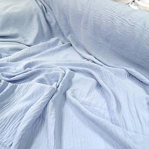 Ткань американский креп голубой