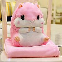 Подушка-игрушка для девочек милый Хомячок, цвет розовый