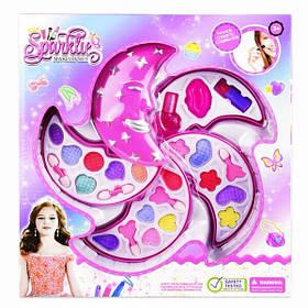 Детский набор косметики декоративной для макияжа для девочек от 3 лет Полумесяц Розовый (57275)
