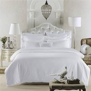 Комплект постельного белья Сатин Премиум Белый