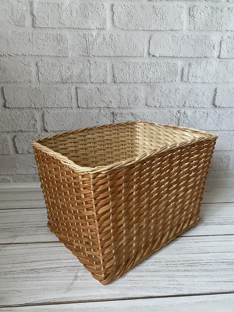 Плетёные корзины-короба для хранения вещей