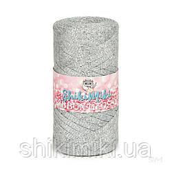 Трикотажный плоский шнур Ribbon Glossy, цвет Серебро