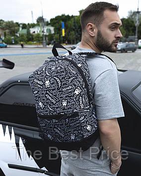 Рюкзак городской для ноутбука Intruder Bunny Logo(черный-белый)