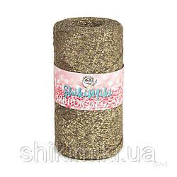 Трикотажный плоский шнур Ribbon Glossy, цвет Капучино с золотом