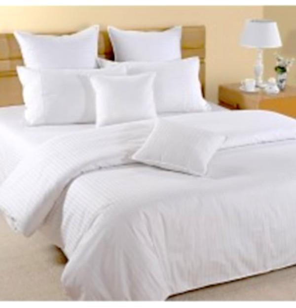 Комплект белого постельное белье Узкие полоски Премиум - Elmas Tekstil -  оптово - розничный магазин товаров Премиум Класса. в Чернигове