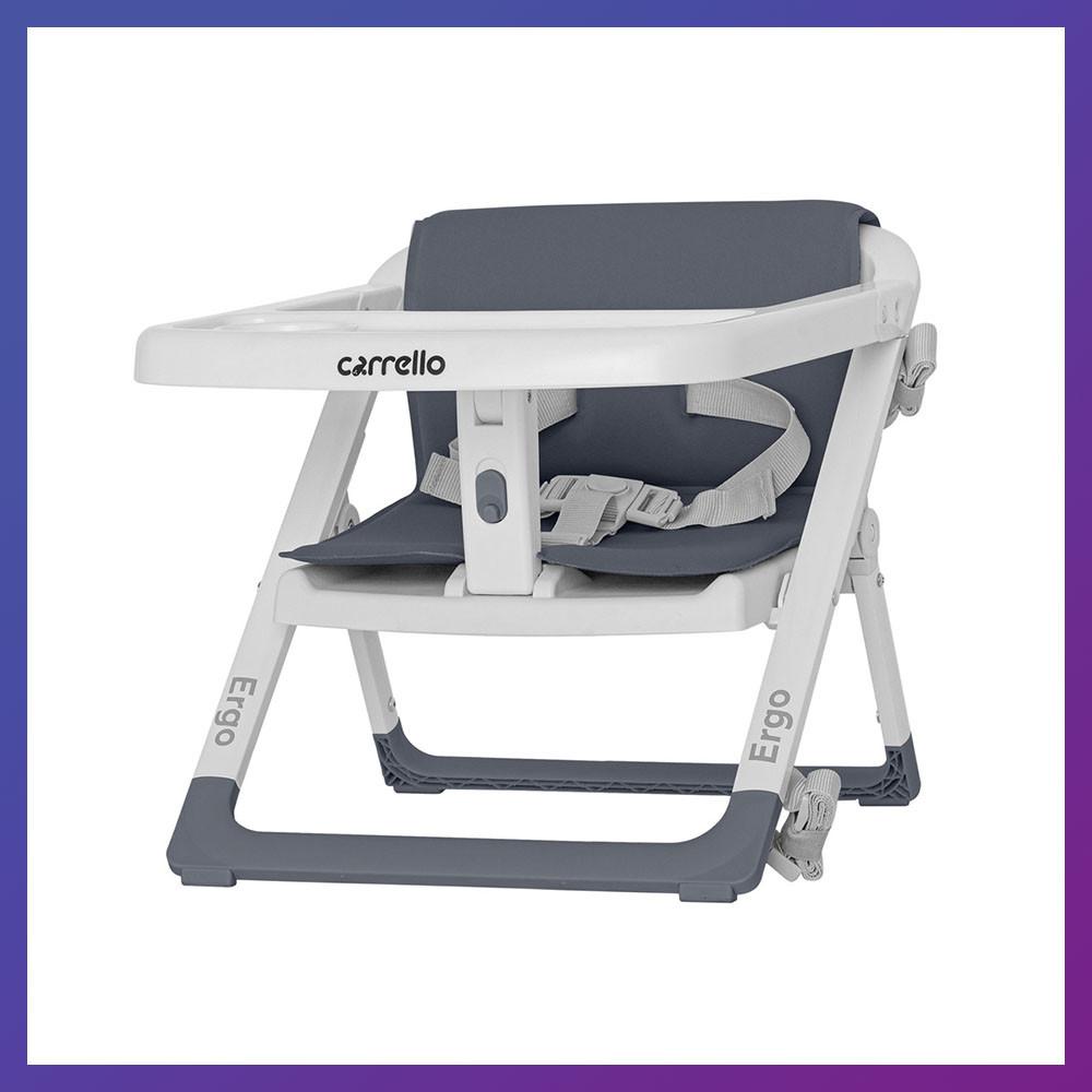 Детский стульчик-бустер для кормления с ремнями безопасности Carrello Ergo CRL-8403 Palette Grey черный