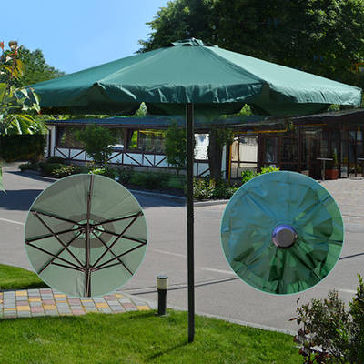 Усиленный пляжный зонт 3м / Складной большой зонт от солнца для пляжа и сада Зеленый