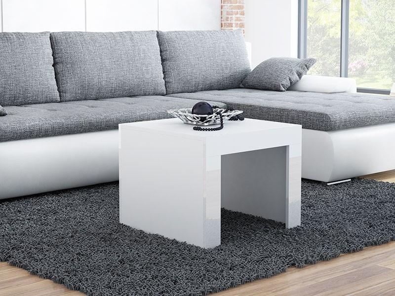 Журнальний столик TESS MINI 60x60 Cama Білий Мат / Білий Глянець
