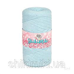 Трикотажный плоский шнур Ribbon Glossy, цвет Небесно-голубой