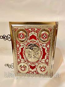 Евангелие большое полный оклад метал никель роспись эмаль 23*31