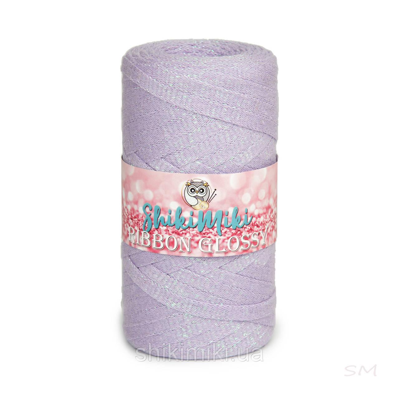 Трикотажный плоский шнур Ribbon Glossy, цвет Сиреневый