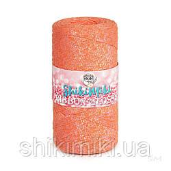 Трикотажный плоский шнур Ribbon Glossy, цвет Оранжевый