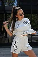 Яркий костюм шорты и футболка свободного кроя, фото 1