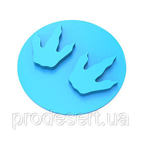 Штамп для пряников След динозавра 3 6*6 см (3D)