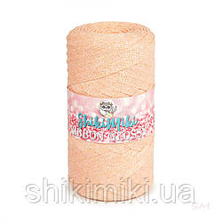 Трикотажный плоский шнур Ribbon Glossy, цвет Персиковый