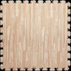 Пол пазл - модульное напольное покрытие 600x600x10мм розовое дерево