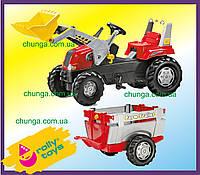 Rolly Toys Junior 811397 педальний Трактор з причепом і ковшем, фото 1