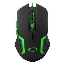 Мишка USB ігрова Esperanza MX205 Fighter Green (EGM205G)