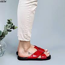 Красные шлепанцы 6654 (ВБ), фото 3