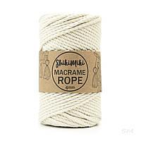 Эко шнур Macrame Rope 4 mm, цвет Молочный