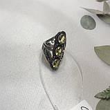 Цитрин 18,3 розмір кільце з цитрином кільце з каменем жовтий цитрин в сріблі Індія, фото 5