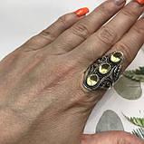 Цитрин 18,3 розмір кільце з цитрином кільце з каменем жовтий цитрин в сріблі Індія, фото 2