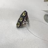 Цитрин 18,3 розмір кільце з цитрином кільце з каменем жовтий цитрин в сріблі Індія, фото 6