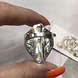Цитрин 18,3 розмір кільце з цитрином кільце з каменем жовтий цитрин в сріблі Індія, фото 4