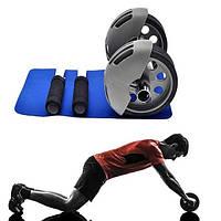 Тренажер для пресса Колесо для пресса Ролик гимнастический Power Stretch Roller WT-E08